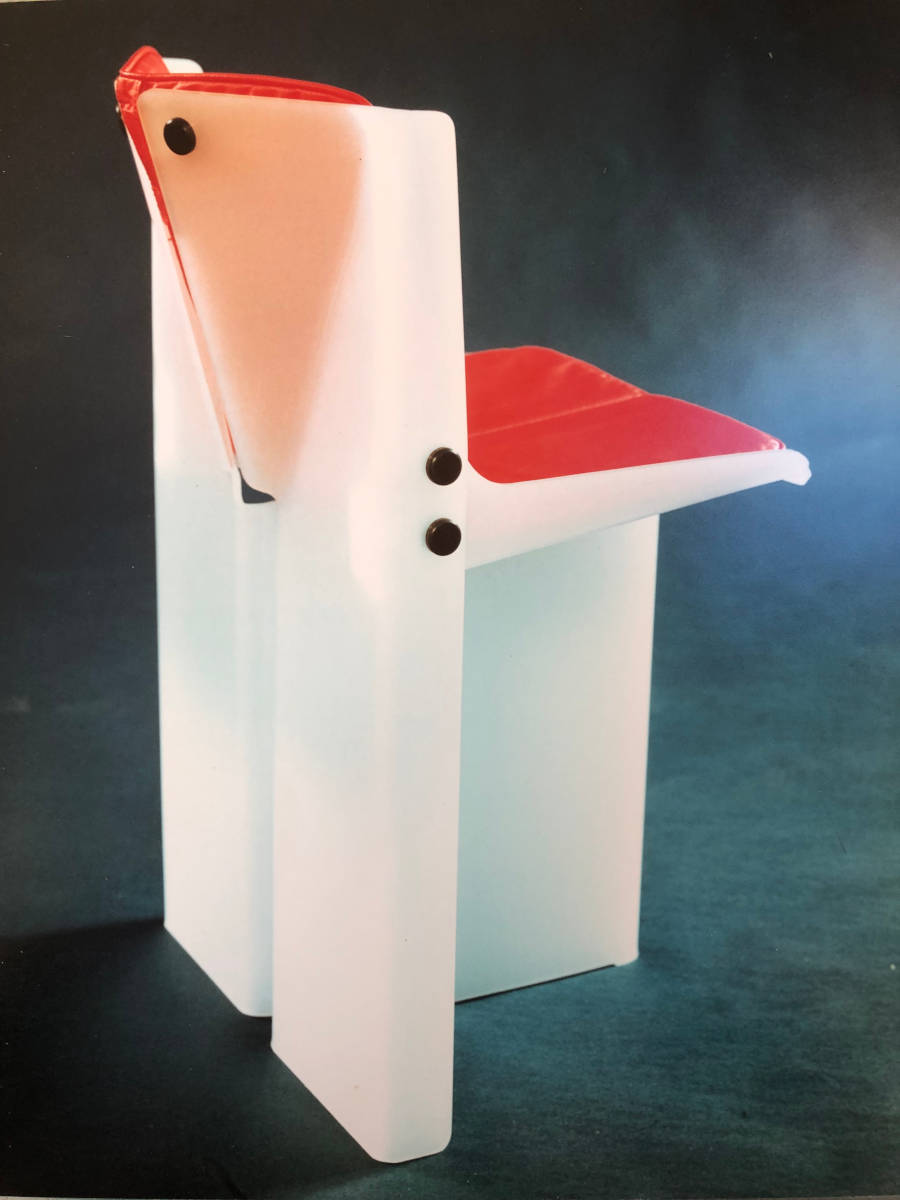 image showing Acrylic dining chair with leatherette seat pad